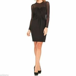 Ted Baker Mesh Long Sleeve Baibre Knotted Dress